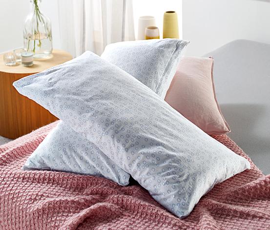 Dżersejowe poszewki na poduszki w dekoracyjne wzory, 2 sztuki