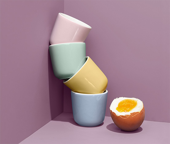 Ceramiczne podstawki do jajek na miękko, 4 sztuki