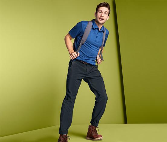 Męskie spodnie softshell ze szlufkami na pasek