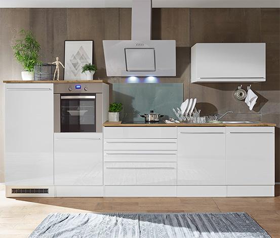 respekta-Premium-Küchenblock, Doppelblock, ca. 320 cm, weiß