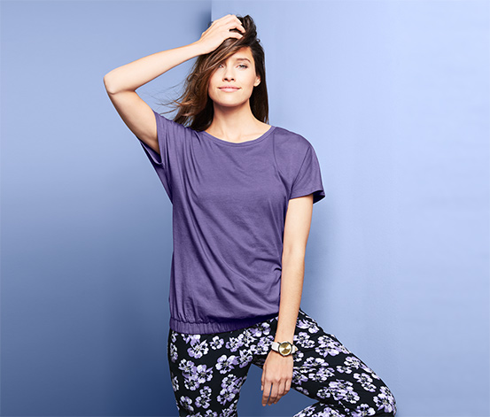 Tričko s krátkým rukávem a pohodlným spodním lemem
