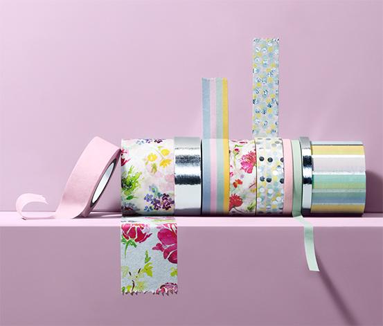Dekoračné lepiace pásky, 10 ks