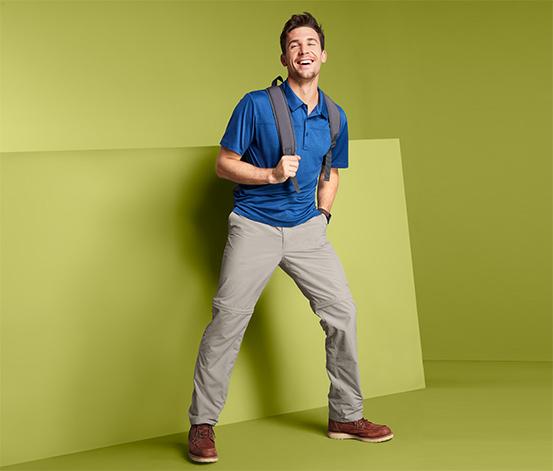Férfi 2 az 1-ben funkcionális nadrág, bézs