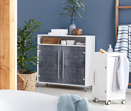 Odkládací skříňka, v barvě betonu