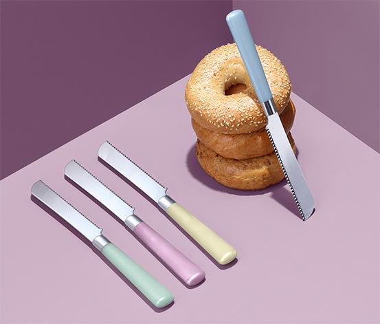 Noże śniadaniowe z ząbkami, 4 sztuki