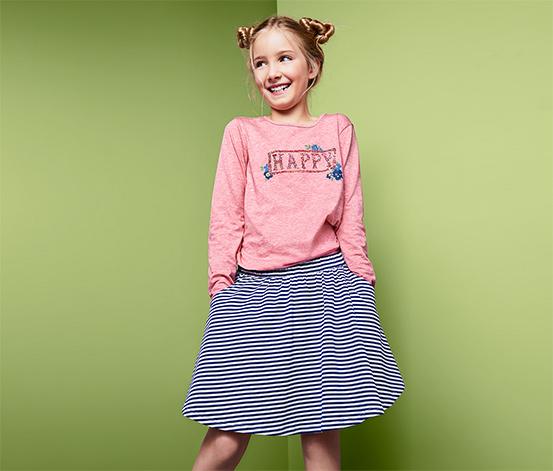 Dziewczęca bluzka z długim rękawem i dwustronnymi cekinami