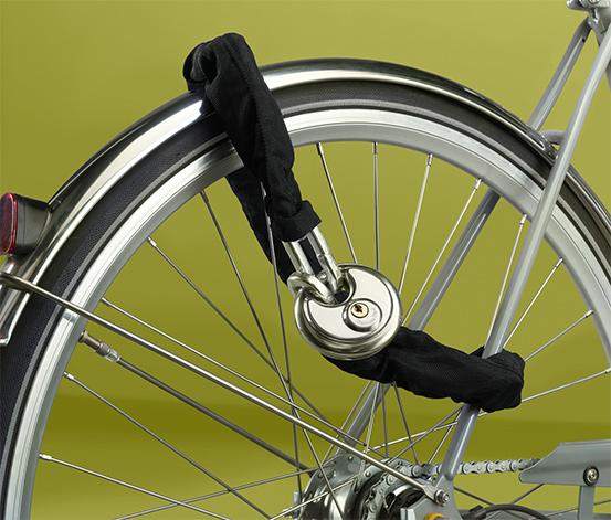 Zapięcie łańcuchowe do rowerów i motocykli z zamkiem dyskowym