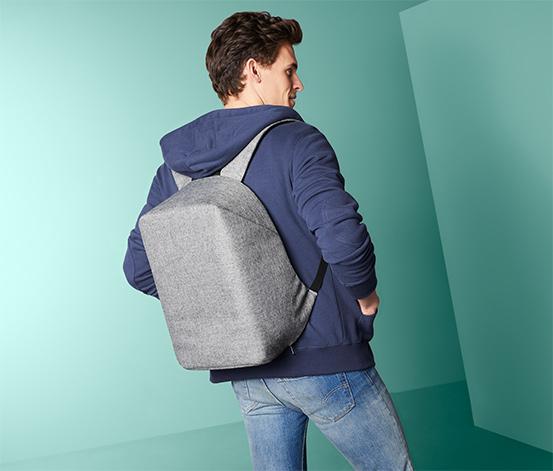 Lopásgátló hátizsák, szürke