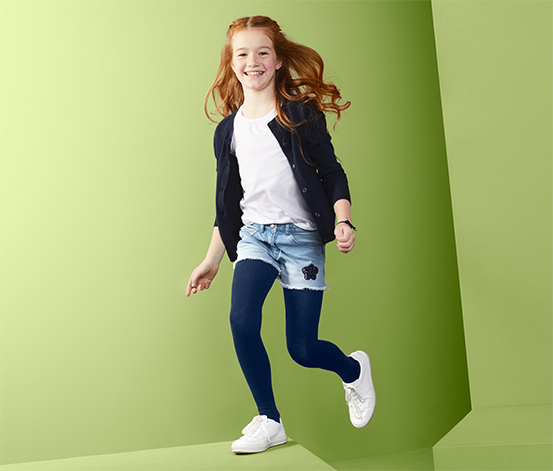Džínsové šortky s obojstrannými flitrami