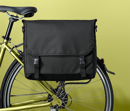 Kerékpártáska, fekete