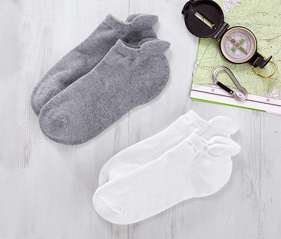 Beyaz Kırçıllı Gri Fonksiyonel Çorap