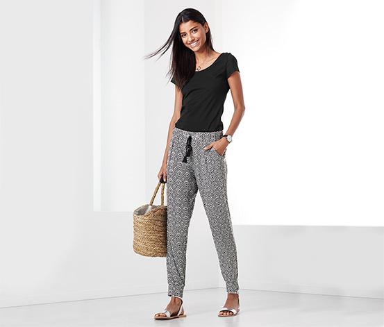 Siyah Beyaz Jersey Pantolon