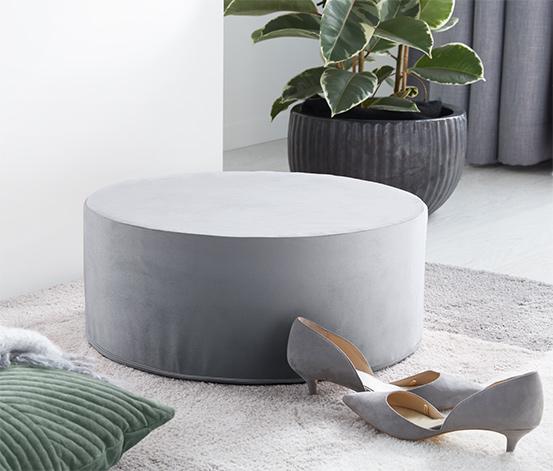 Poduszka do siedzenia z aksamitu w kształcie walca