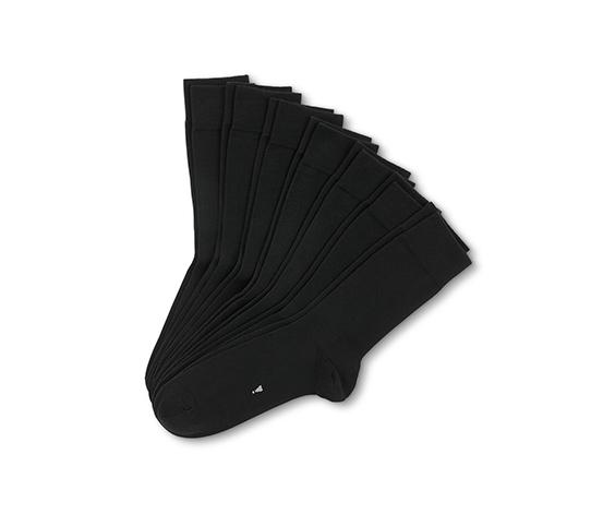 Czarne skarpety z nadrukiem ułatwiającym segregowanie, 7 par