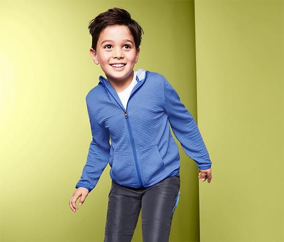 Fiú funkcionális kapucnis felső, kék