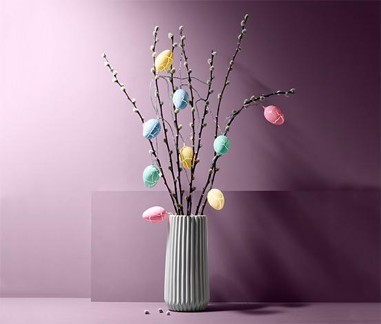 LED-es égősor, 10 tojás, színes