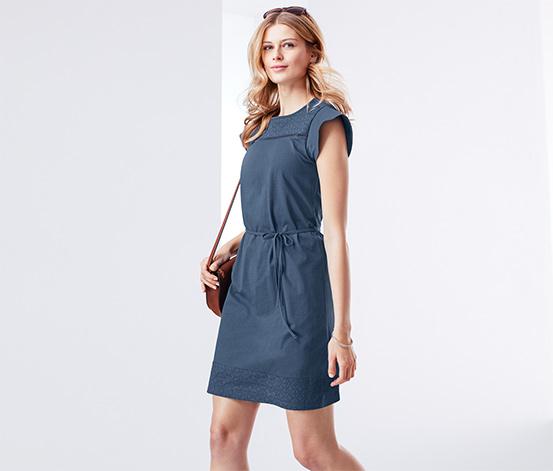 Női lyukhímzéses ruha, kék
