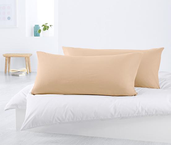 Dżersejowe, podłużne poszewki na poduszki, 2 sztuki