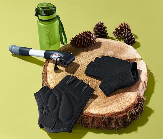 Żelowe rękawiczki rowerowe z obszyciem frotté wchłaniającym wilgoć