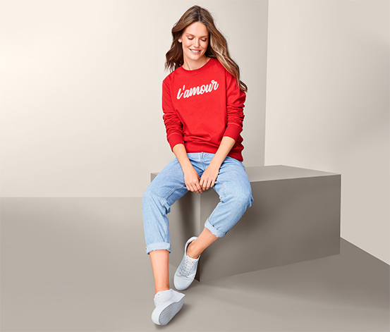 Sweatshirt mit Wording