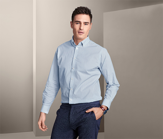 Hemd mit Button-down-Kragen, Comfort Fit