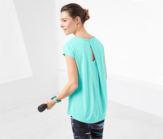 Kırçıllı Turkuaz Dryactive Plus Spor Tişört