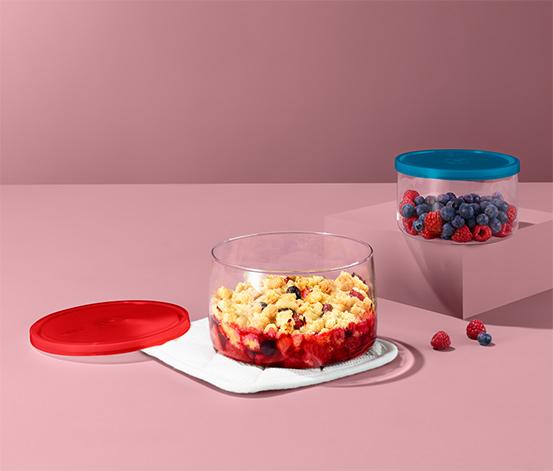 Szklane naczynia do zapiekania, 2 sztuki