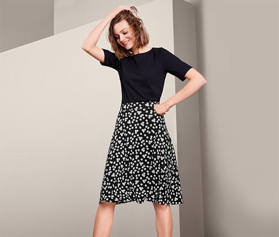 Džersejová sukňa so vzorom margarét