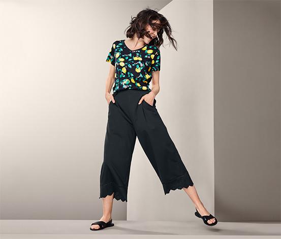 Nohavice culottes s výšivkou