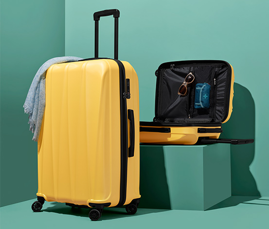 Tchibo Hartschalen-Koffer-Set, klein und groß