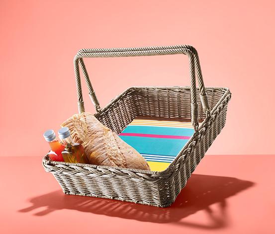 Pleciony kosz piknikowy