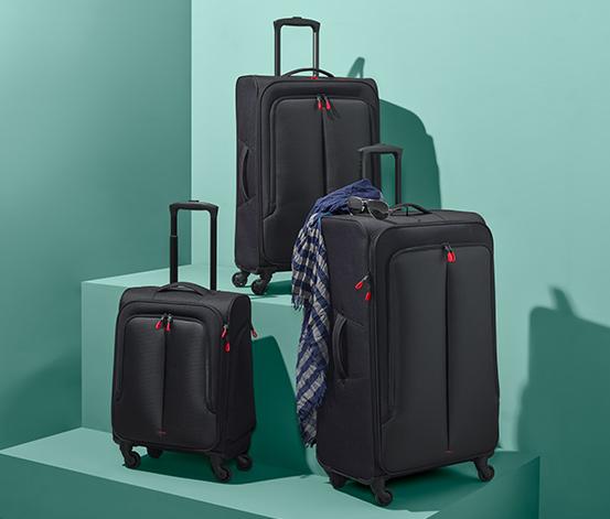 Lehký textilní kufr, malý