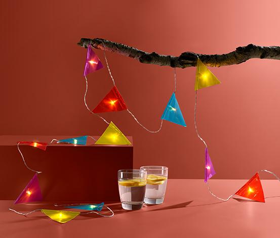 LED-Lichterkette »Wimpel«