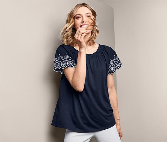 T-shirt avec broderie ajourée