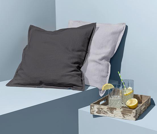 Lněný povlak na dekorační polštářek