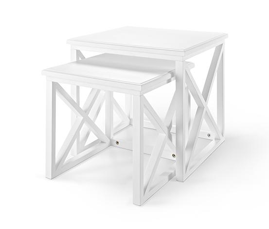 Stoliki w białym kolorze, 2 sztuki