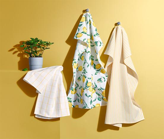 Zestaw 3 bawełnianych ściereczek kuchennych, ok. 50 x 70 cm każda