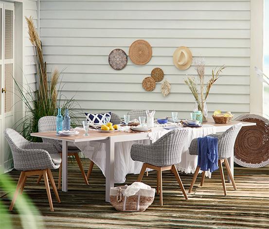 Rozkładany stół ogrodowy, ok. 2–3 m