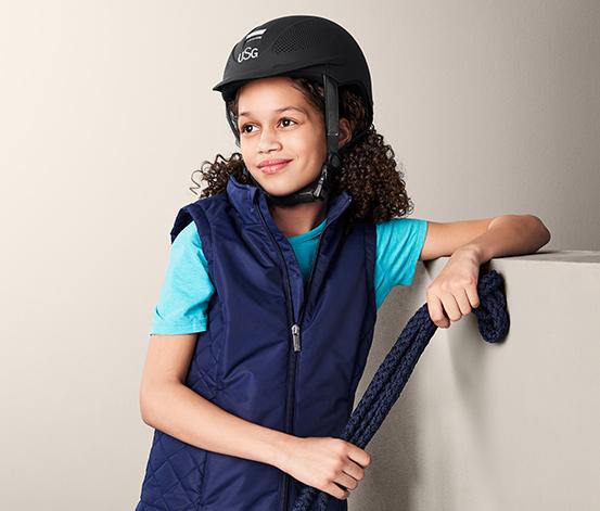 Dziecięcy kask jeździecki USG