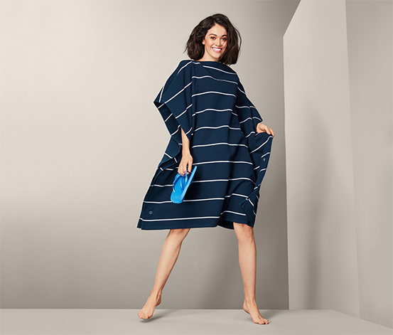 2-in-1-XL-Badetuch-Poncho