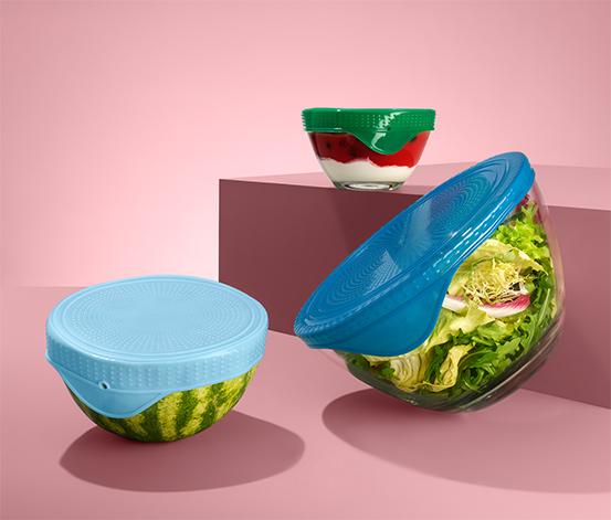 Silikónové veká na uchovávanie čerstvosti potravín, 3 ks