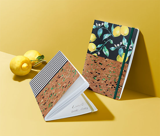 2 Kork-Notizbücher