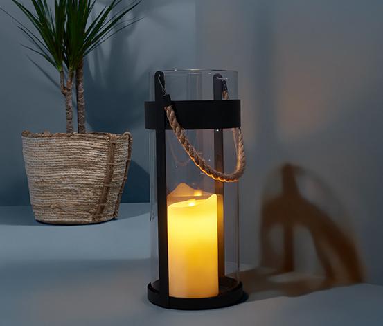 Svietnik so sviečkou s LED