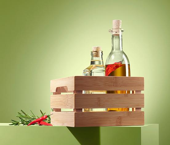 Bambusowa skrzynka do przechowywania ok. 17 x 11 x 17 cm