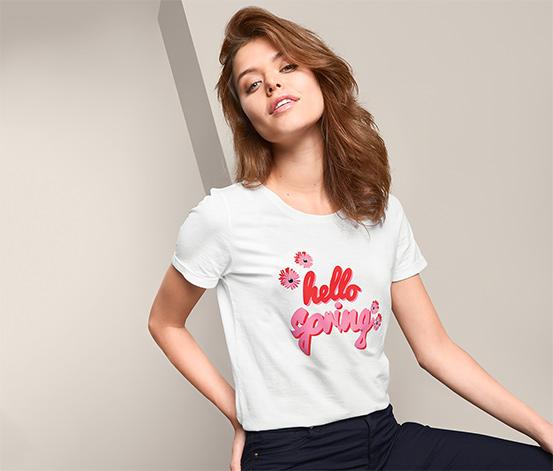 Tričko s krátkym rukávom a potlačou s nápisom