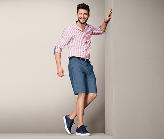 Chambray-Shorts