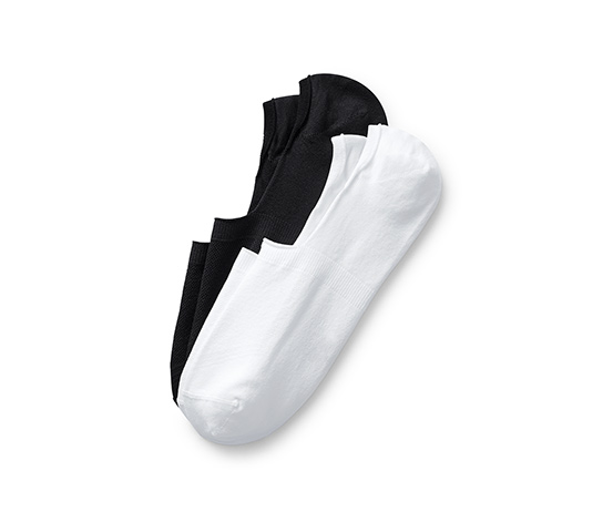 2 pár sport titokzokni szettben, fekete/fehér