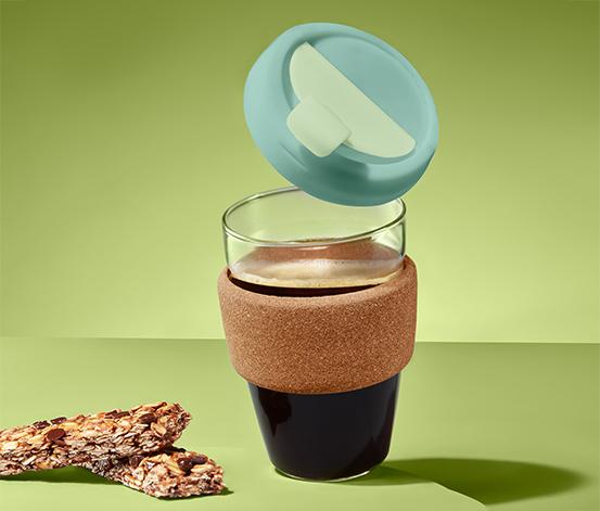 Szklany kubek na kawę lub herbatę