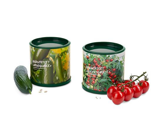 Zestaw do uprawy miniogórków i pomidorków koktajlowych