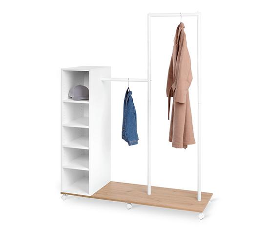 Tchibo Garderobe mit Fächern und verschiedenen Ebenen